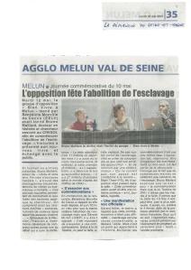 Abolition Esclavage soirŽe BVAM 2015  - La RÈpublique 77 - 2015 05 19