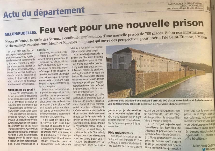Feu vert pour une nouvelle prison